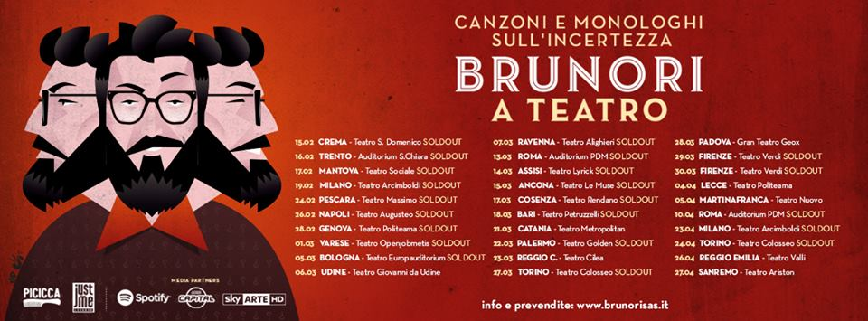 brunori teatro sold out
